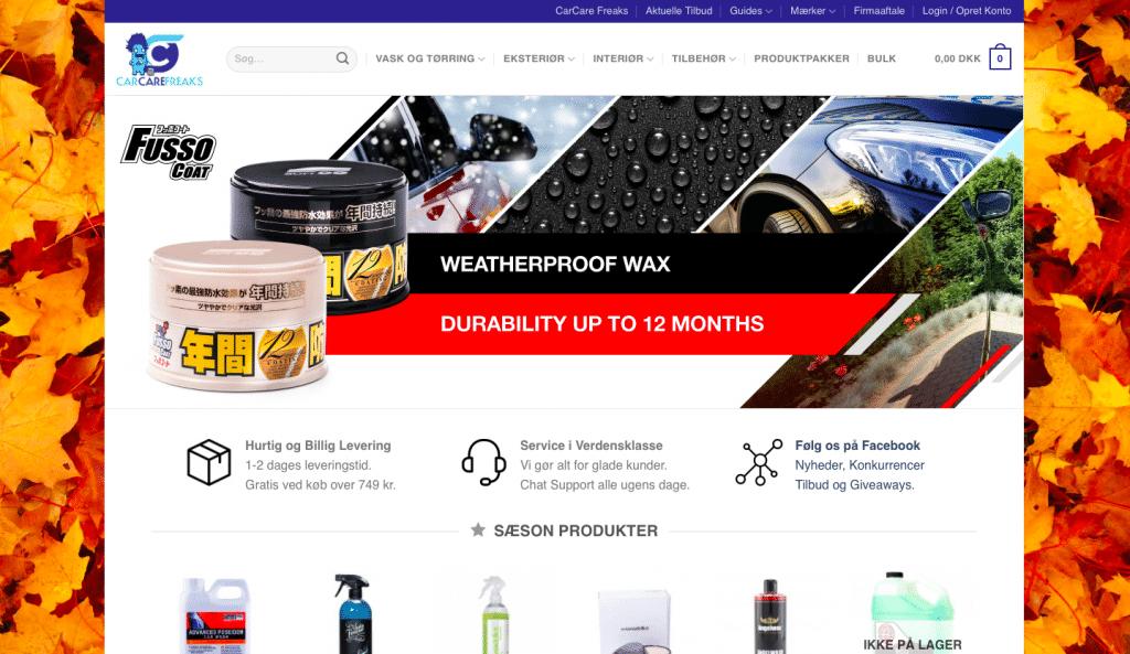produkter til bilvask og bilpleje