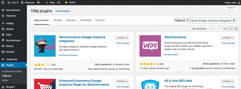 Sporing af e-handel - WooCommerce og WordPress